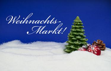 Weihnachtsdekoration mit Weihnachtsmarkt