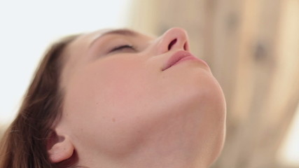 Hot beautiful woman feeling delicate touches of her partner