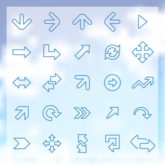 25 Arrows icons set