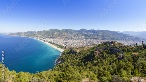 canvas print picture Mediterranean Sea - Panorama Alanya, Turkey
