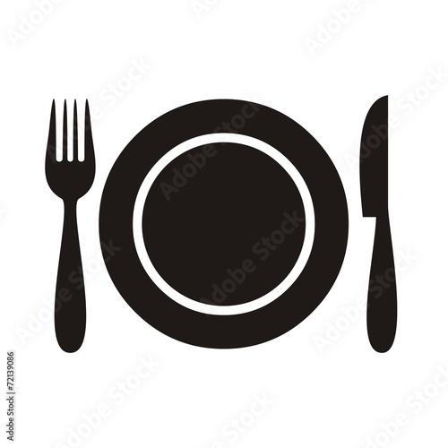 Restaurant menu icon - 72139086