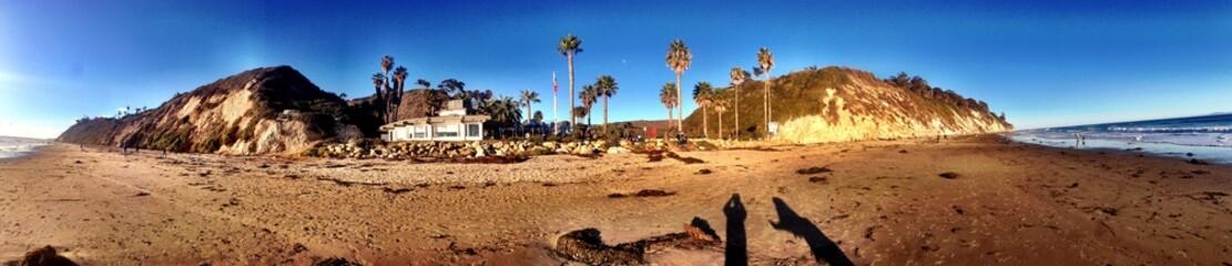 Sunny panorama in Santa Barbara