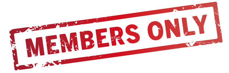 roter stempel members only