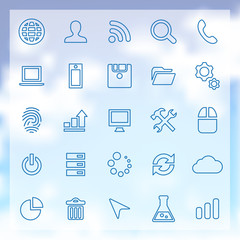 25 development icons set