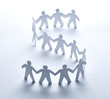 paper people community unity togetherness - 72140256