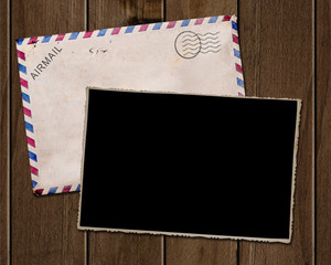 Old  photo and envelope.
