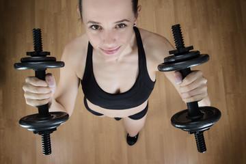 lifting dumbbells