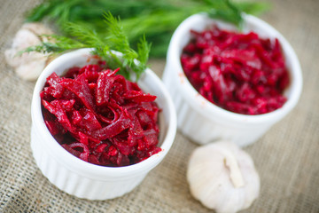beet caviar with garlic