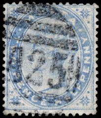 Stamp printed in Malta shows image of the Queen Victoria