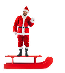 Christmas sledge with Santa Claus
