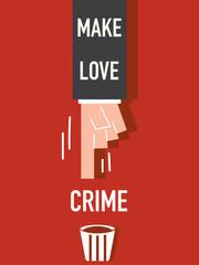 Make love word VECTOR ILLUSTRATION