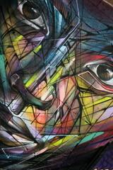 visage,yeux,nez,bouche,tag,graffiti