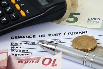Demande de prêt étudiant