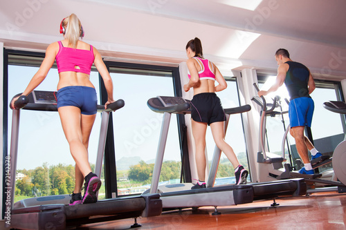 Fototapeta gym treadmill