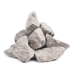 Pile of multiple granite stones isolated