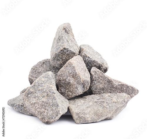 Papiers peints Pierre, Sable Pile of multiple granite stones isolated
