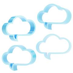 Cloud shaped text bubbles