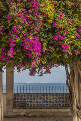 Hintergrund - Mediterraner Aussichtspunkt