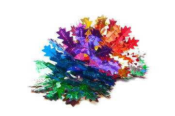 Christmas decoration garland of foil