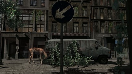 Apocalypse City dolly shot - Video Background