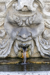 fontana con mascheroni