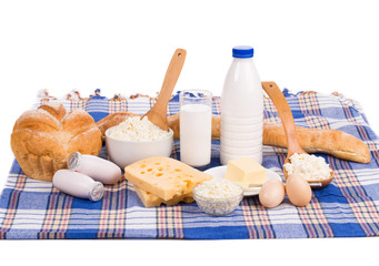 Composition with bread milk and cheese