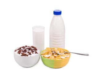 Tasty cereal breakfast for kids.