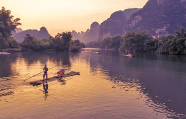 Yangshuo, July 31 2014, Li River at sunset
