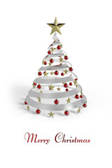 Weihnachtskarte Merry Christmas rot