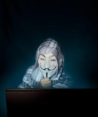 Anonymous mask man hacker