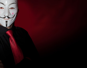 Anonymous mask man hacker