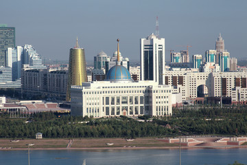 Astana. View of the Presidential Palace