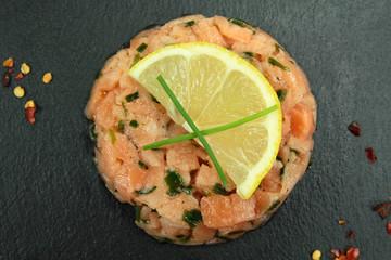 tartare au saumon
