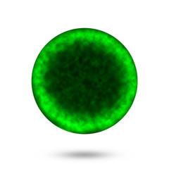 Green  Virus isolated