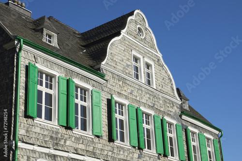 canvas print picture Bergisches Haus in Solingen-Gräfrath, NRW, Deutschland