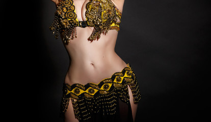 Arabian belly dancer sexy woman dancing bellydance