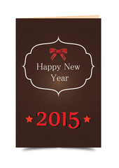2015 Happy New Year Karte