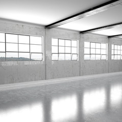 Leere Fabrikhalle