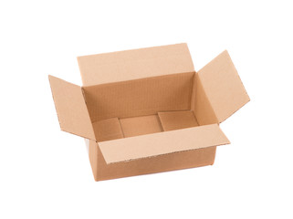 Corrugated cardboard box.