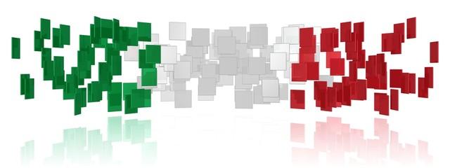 Vielfalt in den Farben der italienischen Flagge