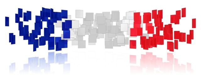 Vielfalt in den Farben der französischen Flagge
