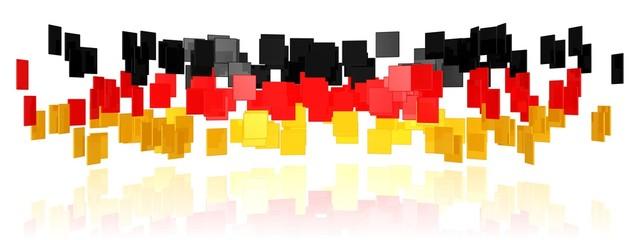 Vielfalt in den Farben der deutschen Flagge