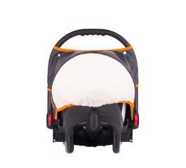 Baby car seat isolated