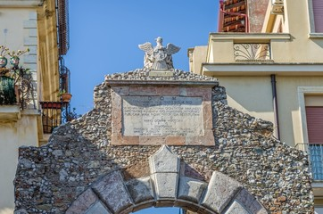 The door of Messina, Taormina,Sicily ,Italy.
