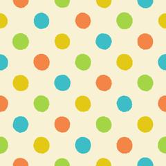 Polka dot vintage seamless pattern
