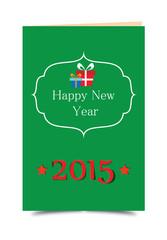 2015 Happy New Year Karte Grün
