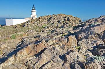 Lighthouse at Cap de Creus peninsula, Catalonia, Spain