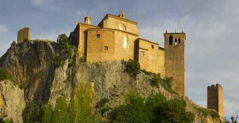 Collegiate castle de Alquézar, Huesca, Spain
