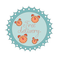 Badge Free delivery