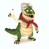 Chef croc thum up poster